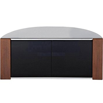 Remarkable Unique Oak Corner TV Cabinets Intended For Sirius 850 Oak And Black Corner Tv Cabinet Amazoncouk Electronics (View 29 of 50)