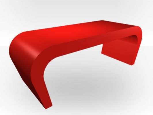 Remarkable Unique Red Gloss Coffee Tables With Regard To Red Gloss Coffee Table Wedge Free Uk Delivery Zespoke (Image 32 of 40)