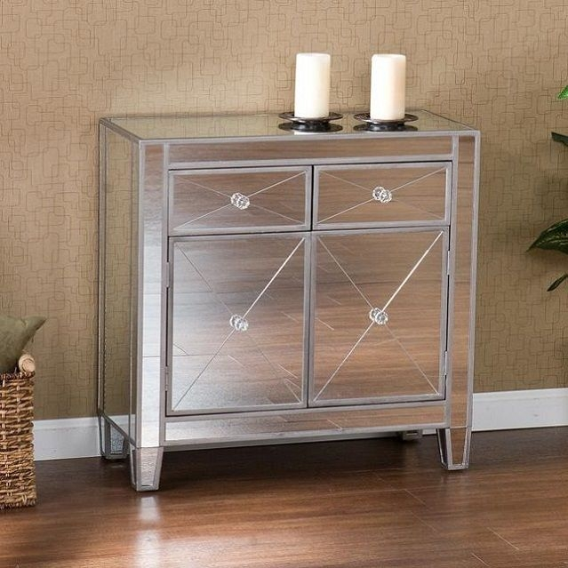Remarkable Unique Silver TV Stands For Modern Mirrored Chest Rectangle Glam Silver Console Tv Stand (Image 35 of 50)