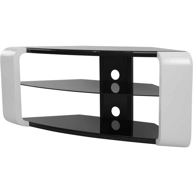 Remarkable Unique White High Gloss Corner TV Stands Inside Tv Stands In White Ao (Image 47 of 50)