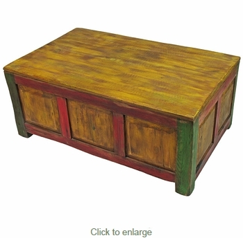 Remarkable Unique Wooden Storage Coffee Tables Pertaining To Wood Storage Coffee Table Distressed Multi Color (View 10 of 50)