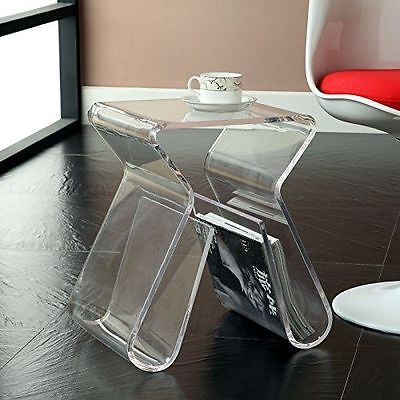 Remarkable Variety Of Acrylic Coffee Tables With Magazine Rack For Acrylic End Table Magazine Rack Clearlexington Moderncoffee (View 12 of 40)