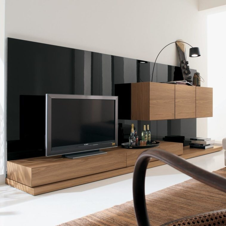 Remarkable Variety Of Big TV Stands Furniture Inside Furniture Brown Wooden Tv Stand With Floating Storage Cmbined (Image 41 of 50)