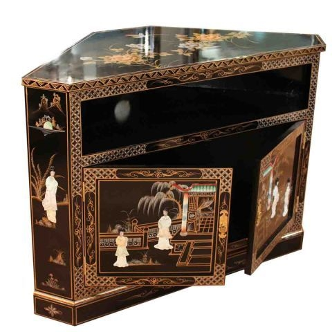 Remarkable Variety Of Black Corner TV Cabinets For Black Oriental Furniture Corner Tv Cabinet (View 35 of 50)