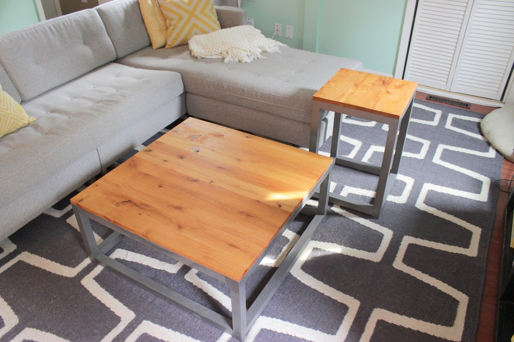 Remarkable Variety Of Coffee Table With Matching End Tables Throughout Remodelaholic Build A Modern Coffee Table And Matching End Tables (Image 46 of 50)
