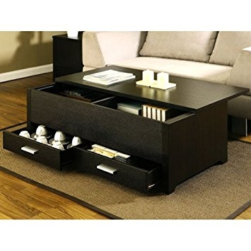 Remarkable Variety Of Espresso Coffee Tables For Amazon Garretson Storage Box Coffee Table In Espresso Finish (Image 42 of 50)