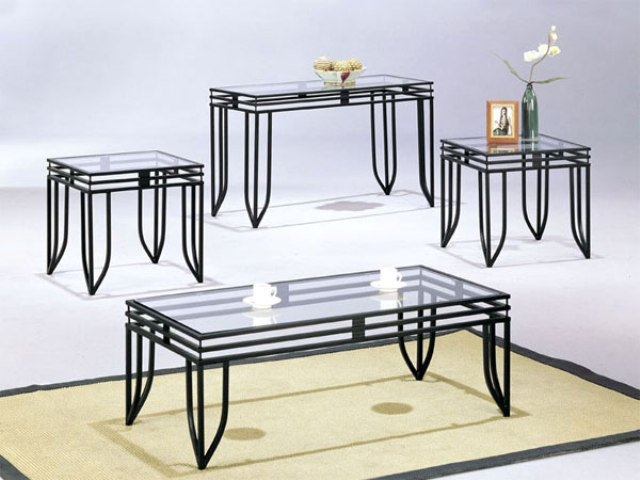 Remarkable Variety Of Glass And Black Coffee Tables Within Best Glass Top Coffee Table With Metal Base Design (Image 41 of 50)