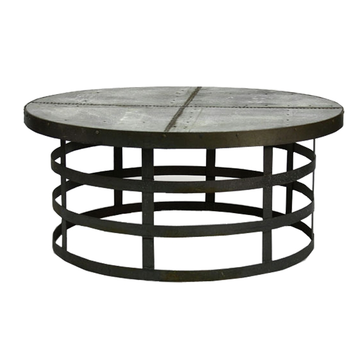 Remarkable Variety Of Metal Round Coffee Tables Throughout Alden Round Coffee Table Open Framed (Image 44 of 50)