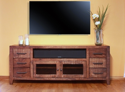 Remarkable Variety Of Rustic Wood TV Cabinets Intended For 35 Supurb Reclaimed Wood Tv Stands Media Consoles (View 6 of 50)