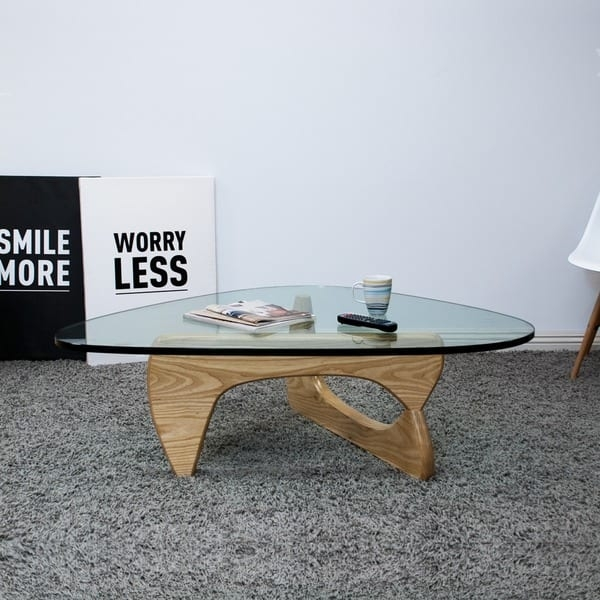 Remarkable Variety Of Tribeca Coffee Tables Within Mod Made Mid Century Modern Tribeca Tempered Glass Top Coffee (View 50 of 50)