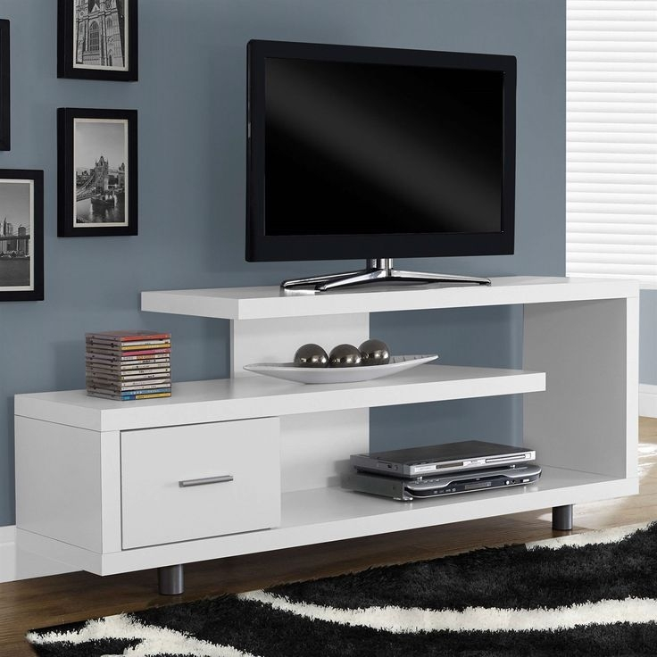 Remarkable Variety Of White Tall TV Stands Regarding Tv Stands Modern Tv Stands For 40 Inch Flat Screen With Wheels  (Image 41 of 50)