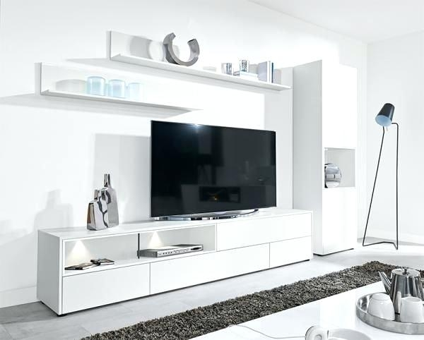 Remarkable Variety Of White TV Cabinets Pertaining To The Bdi Venue Media Storage Console In White Modern Curved Tv (View 12 of 50)