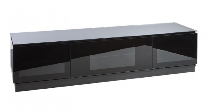 Remarkable Variety Of Wide TV Cabinets Intended For Diamond D18003 Gloss Black Tv Cabinet 1800mm Wide (View 22 of 50)