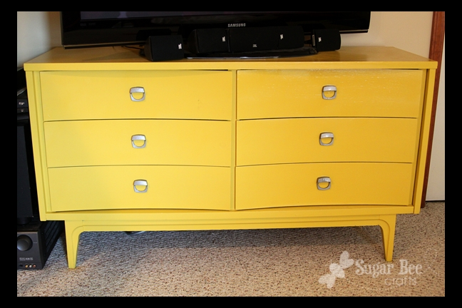 Remarkable Variety Of Yellow TV Stands Intended For Tv Stand Dresser Reveal Sugar Bee Crafts (View 33 of 50)