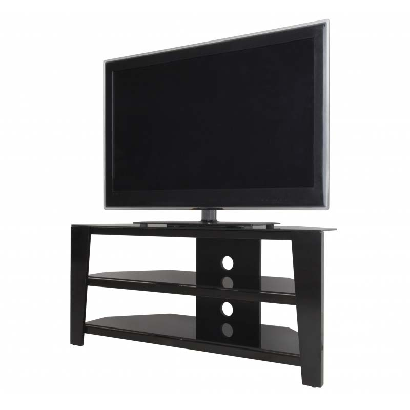 Remarkable Wellknown 55 Inch Corner TV Stands Pertaining To Avf Vico 55 Inch Corner Tv Stand Glossy Black Fs1050vib A (Image 43 of 50)