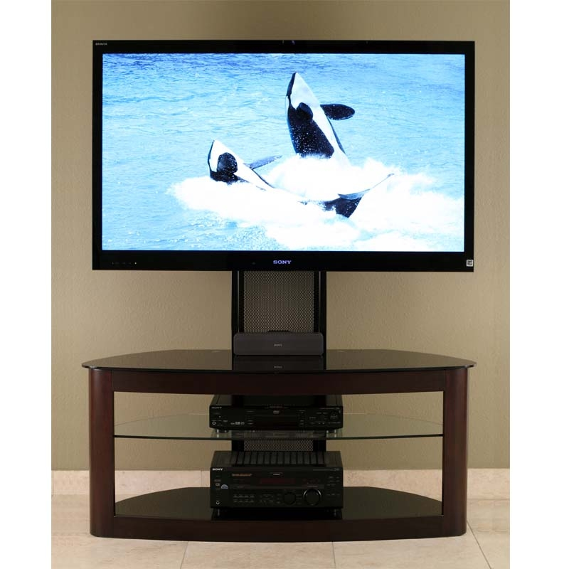 Remarkable Well Known 65 Inch TV Stands With Integrated Mount Within Transdeco Glass Tv Stand With Mounting System For 35 65 Inch (Image 40 of 50)