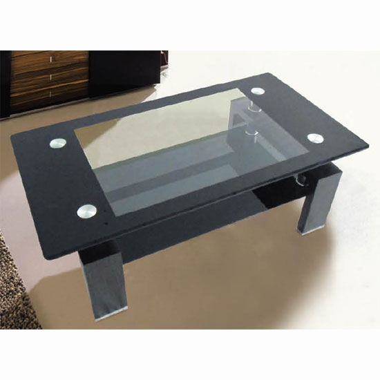 Remarkable Well Known Black Glass Coffee Tables  Pertaining To Living Room Best Modern Black Glass Coffee Table And Estate With (Image 45 of 50)