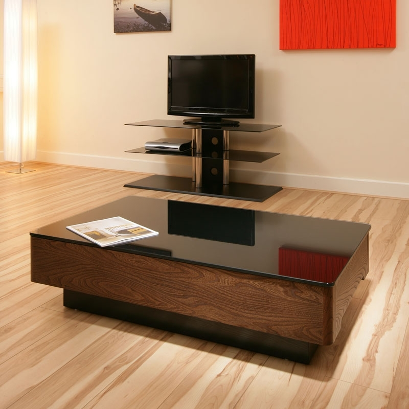 Remarkable Well Known Black Wood And Glass Coffee Tables Pertaining To Modern Elm Wooden Coffee Table Tables Black Glass Top Beautiful (Image 37 of 49)