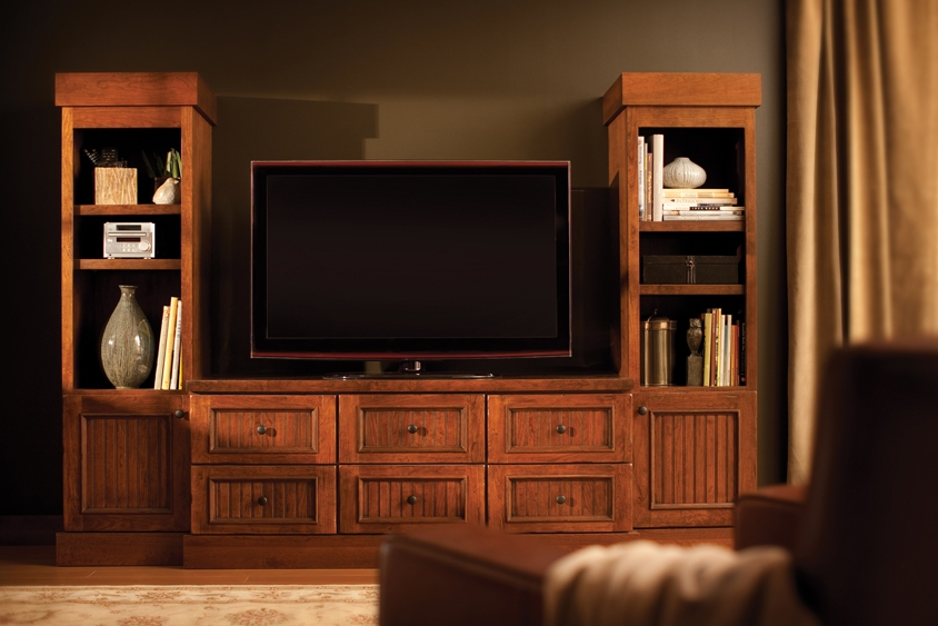 Remarkable Wellknown Cherry Wood TV Cabinets Throughout Wood Tv Cabinets For Flat Screens Roselawnlutheran (View 46 of 50)