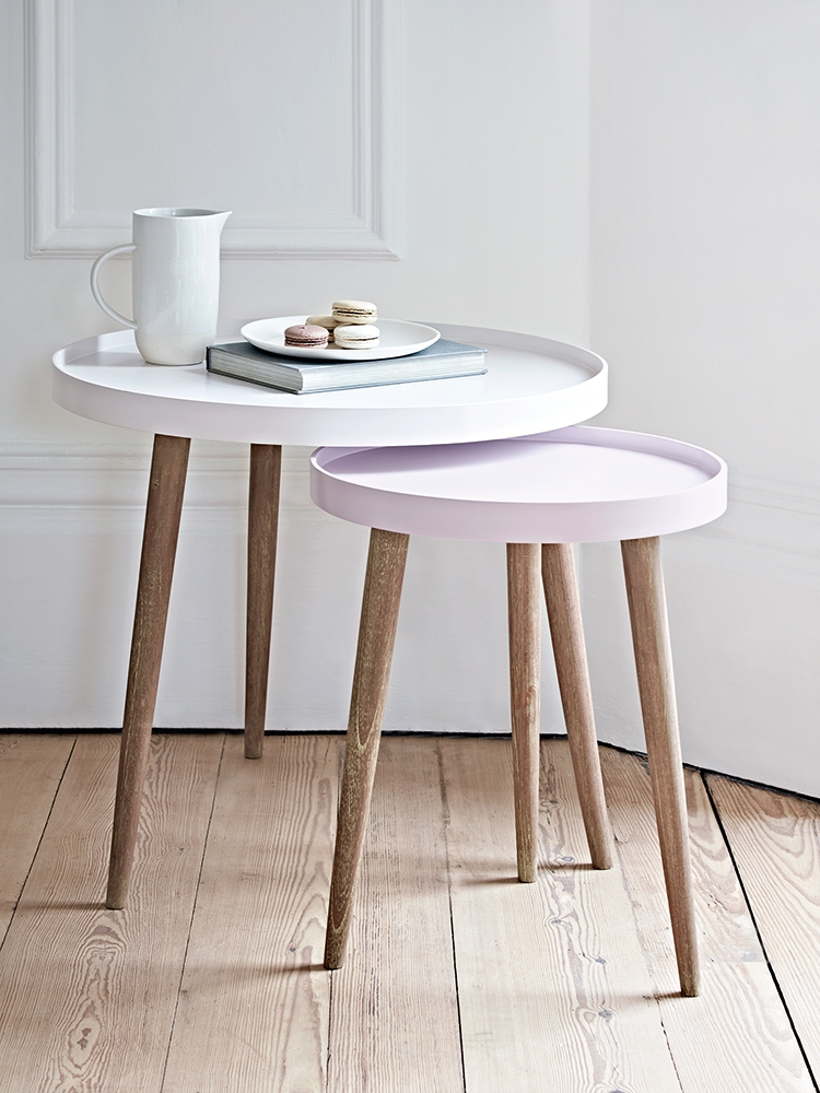 Remarkable Well Known Coffee Tables And Side Table Sets Regarding Small Round Side Table For Nursery (Image 44 of 50)
