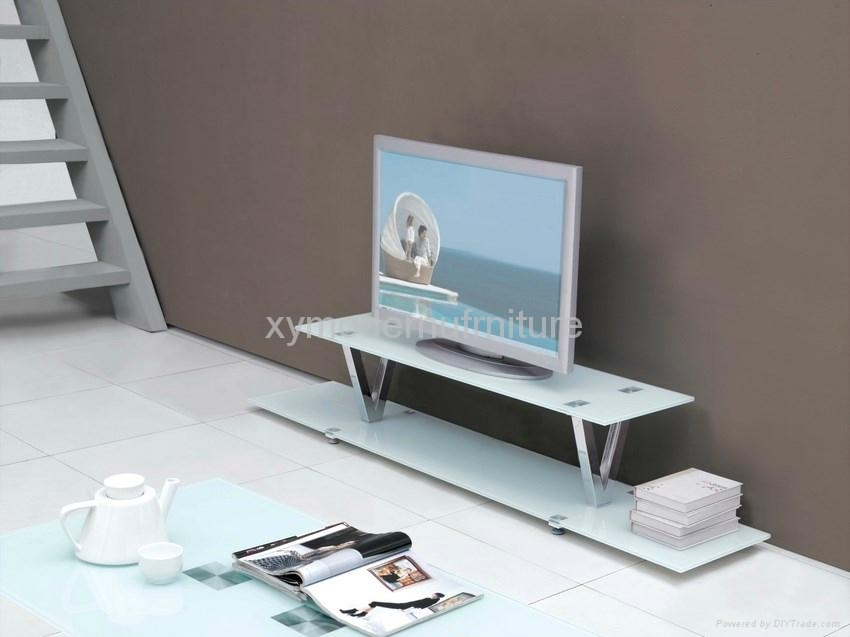 Remarkable Well Known Contemporary Glass TV Stands Intended For Modern Design New Style Tempered Glass Tv Stand Xyts 022 Xy (Image 38 of 50)