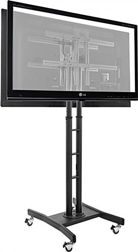 Remarkable Well Known Double TV Stands In Double Sided Tv Stand 2 Adjustable Mounts For 32 65 Screens (Image 40 of 50)