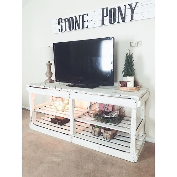 Remarkable Wellknown Dwell TV Stands With Dwell Of Decor 30 Creative And Easy Diy Tv Stand Ideas From Old (Image 40 of 50)