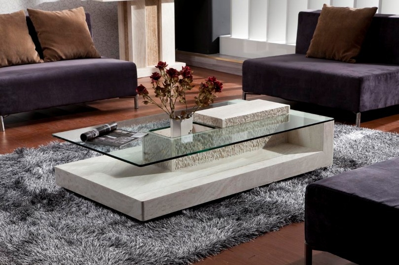 Remarkable Wellknown Glass And Stone Coffee Table With Owning Long Lasting Living Room Beauty From Captivating Stone (Image 39 of 50)
