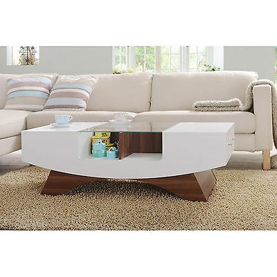 Remarkable Well Known Glass Top Display Coffee Tables With Drawers Throughout Modern Coffee Table Wood 4 Display Shelves Glass Top Side Storage (Image 43 of 50)