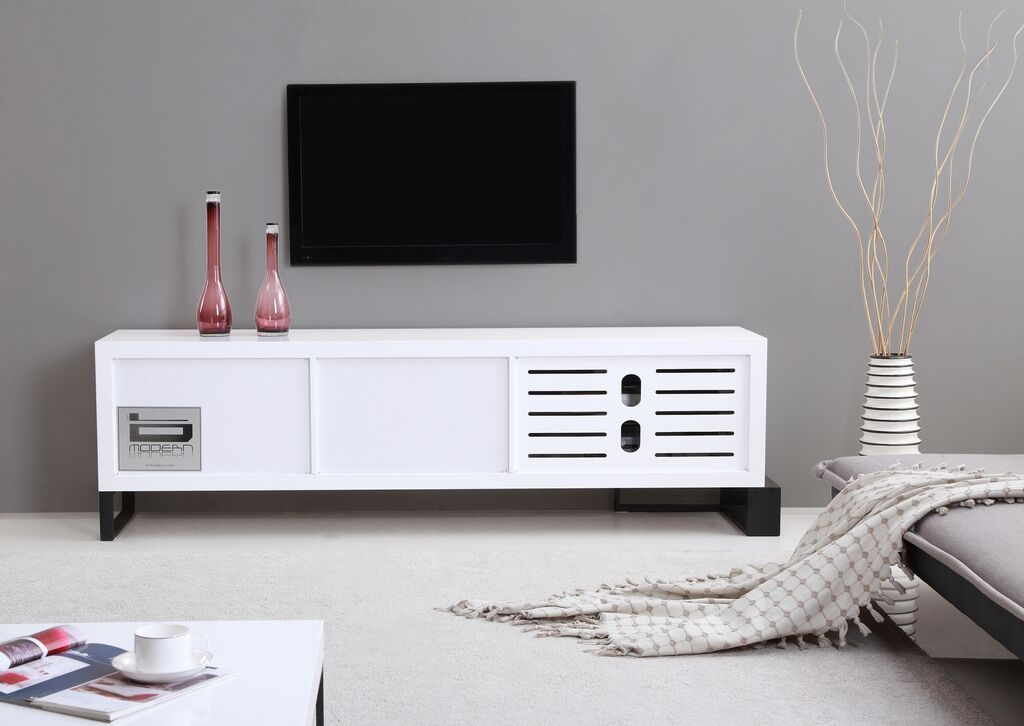 Remarkable Well Known High Gloss White TV Stands Throughout Entertainer Tv Stand High Gloss White B Modern Modern Manhattan (Image 39 of 50)