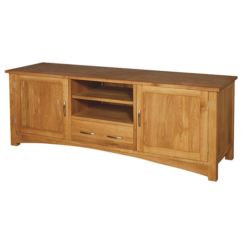 Remarkable Wellknown Large Oak TV Cabinets Regarding Oak Large Tv Cabinet Portess (Image 39 of 50)