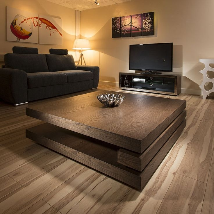 Remarkable Well Known Large Square Wood Coffee Tables For Large Wood Coffee Table (Photo 17 of 50)