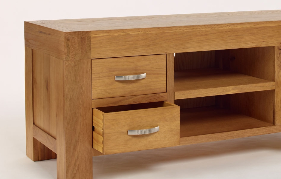 Remarkable Well Known Light Oak TV Cabinets With Oak Tv Unit With Drawers Light Santana Oak (Image 42 of 50)