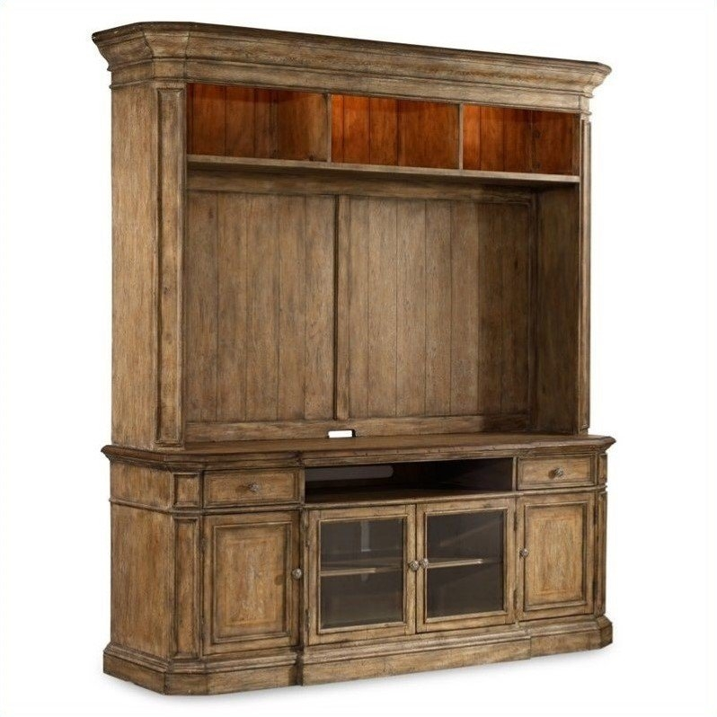 Remarkable Well Known Light Oak TV Cabinets Within Hooker Furniture Solana Tv Stand With Hutch In Light Oak 5291  (Image 43 of 50)