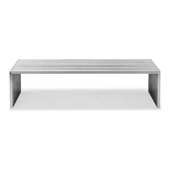 Remarkable Well Known Long Coffee Tables Throughout Slatted Steel Long Coffee Table Moss Manor A Design House (View 17 of 50)