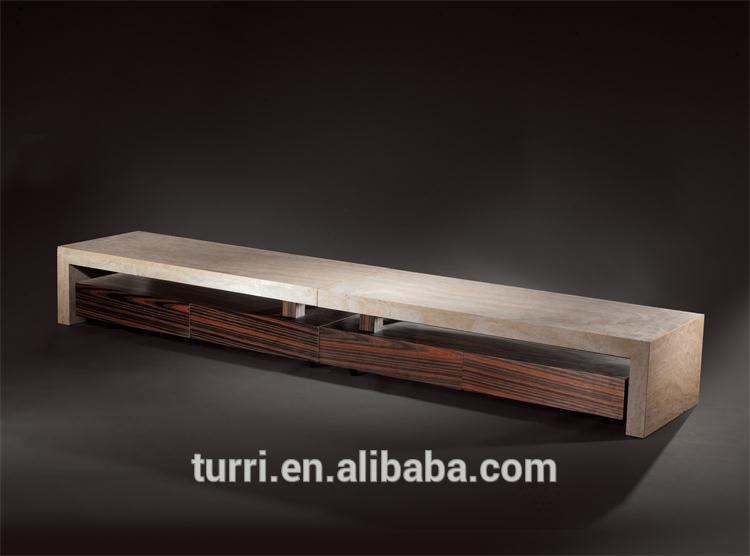 Remarkable Well Known Long Wood TV Stands Regarding Luxury Long Wooden Tv Stand With Luxury Marble Top Buy Living (Image 43 of 50)