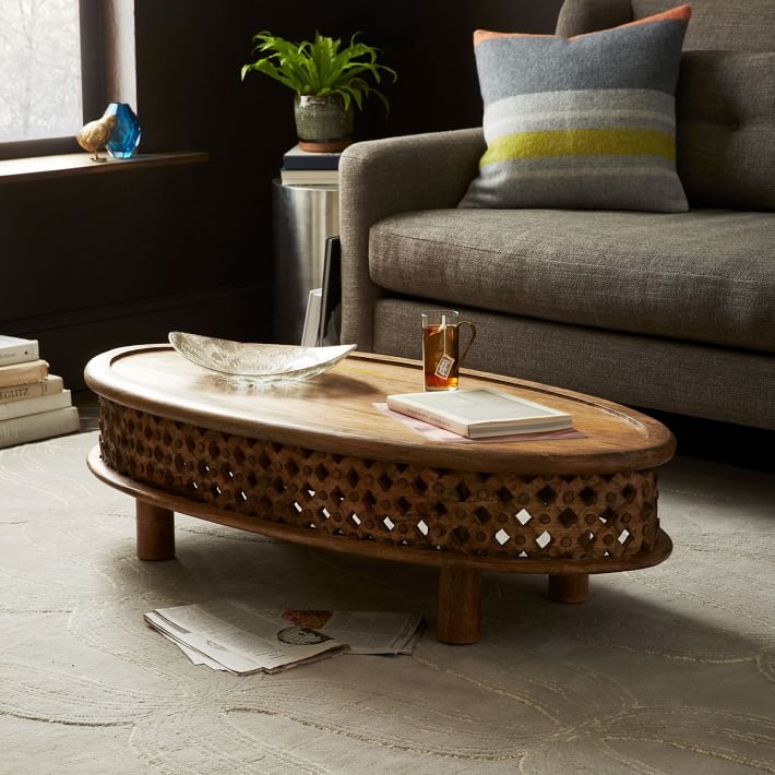 Remarkable Well Known Mango Wood Coffee Tables Within Carved Wood Coffee Table (Image 41 of 50)