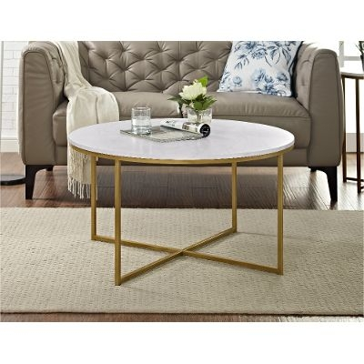 Remarkable Well Known Marble Round Coffee Tables Regarding Gold Round Coffee Table (View 40 of 50)