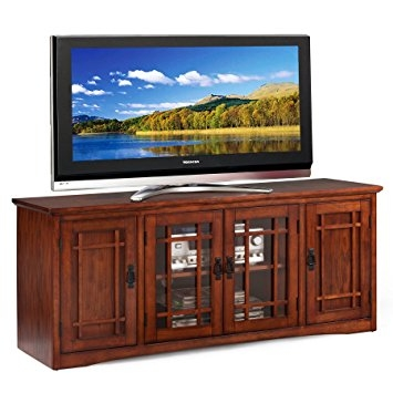 Remarkable Wellknown Oak Veneer TV Stands Regarding Amazon Leick Mission 60 Tv Stand Kitchen Dining (Image 43 of 50)