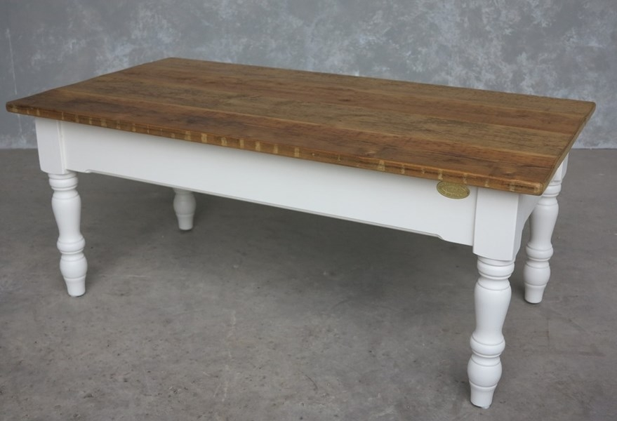 Remarkable Wellknown Old Pine Coffee Tables Throughout Old Pine Top Coffee Table With Painted Base (Image 39 of 50)