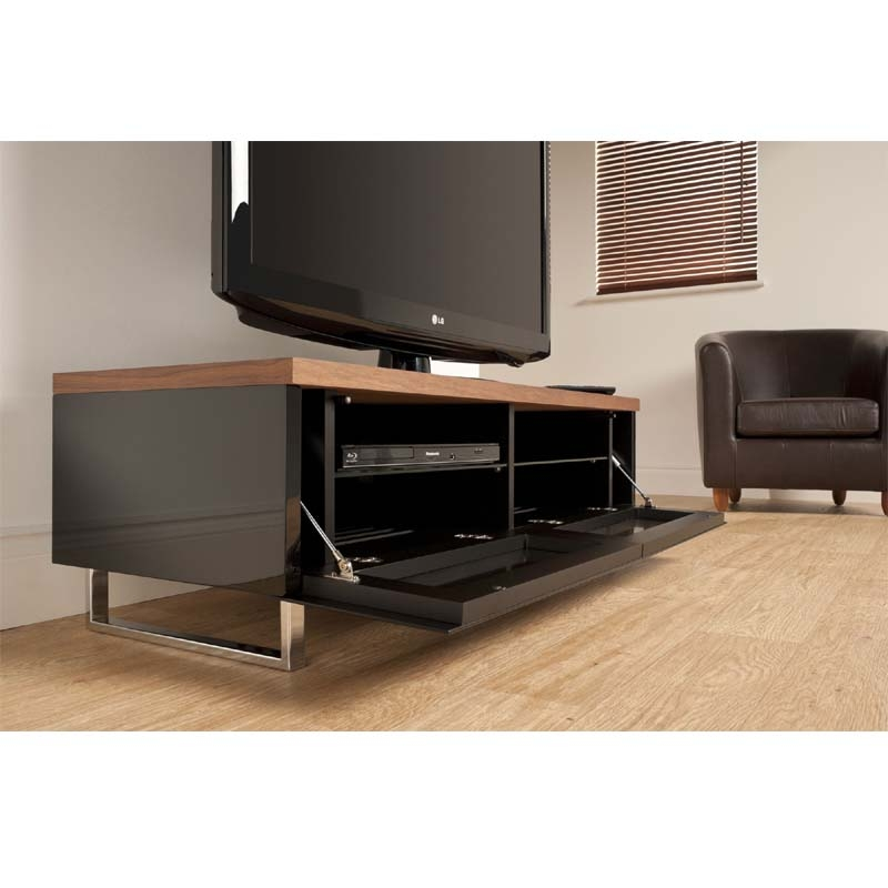 Remarkable Well Known Panorama TV Stands Regarding Techlink Panorama Series Low 55 Tv Stand With Drop Down Door And (Image 44 of 50)
