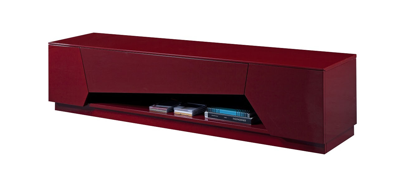 Remarkable Well Known Red Modern TV Stands With Tv Stand In Bold Red High Gloss With Soft Closing Tracks (Image 42 of 50)