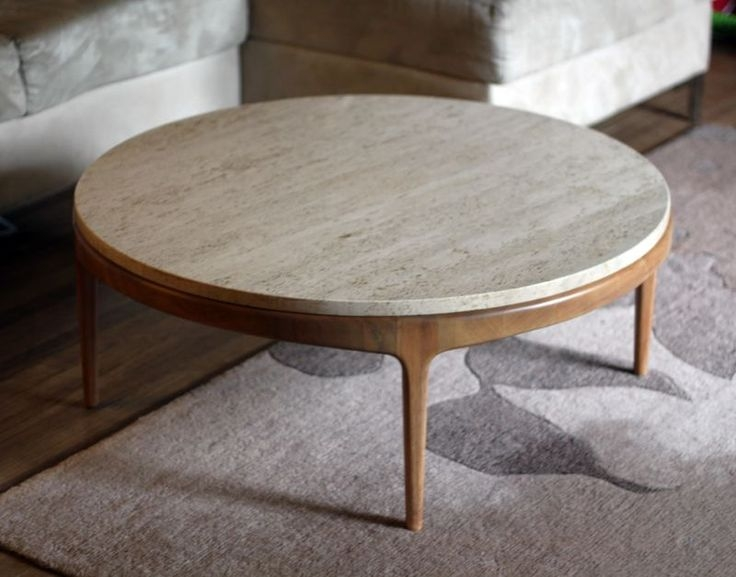 Remarkable Wellknown Round Coffee Tables Regarding Living Room Great 12 Round Coffee Tables We Love The Everygirl (Image 41 of 50)
