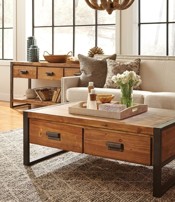 Remarkable Well Known Rustic Coffee Table Drawers Within Best 20 Coffee Table With Drawers Ideas On Pinterest Coffee (Image 38 of 50)