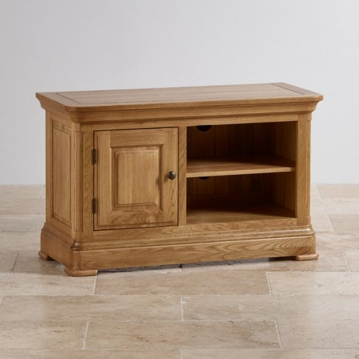 Remarkable Wellknown Small TV Cabinets With Tv Cabinets Units 100 Solid Hardwood Oak Furniture Land (View 41 of 50)