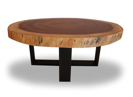 Remarkable Well Known Small Wood Coffee Tables Pertaining To Round Wooden Coffee Table Jericho Mafjar Project (View 48 of 50)