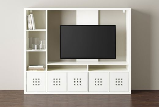 Remarkable Well Known Storage TV Stands Throughout Lappland Tv Storage Unit White 183×147 Cm Tv Stands Living (Image 41 of 50)