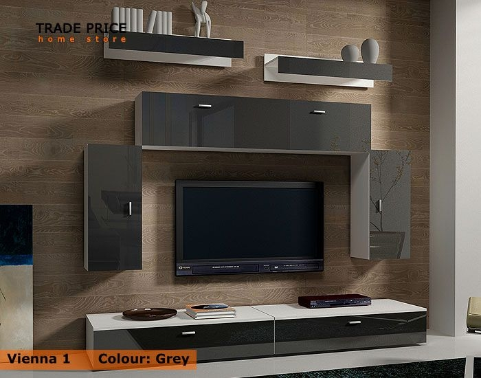 Remarkable Wellknown TV Stands Cabinets Pertaining To Tv Wall Units Tv Cabinets Tv Stand Grey High Gloss Modern (View 38 of 50)