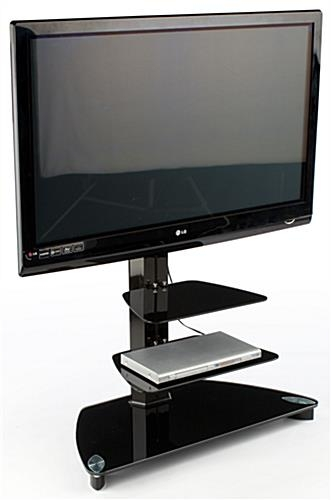Remarkable Well Known TV Stands For 70 Flat Screen Within Tv Stand 2 Black Glass Shelves 54 Tall (View 25 of 50)