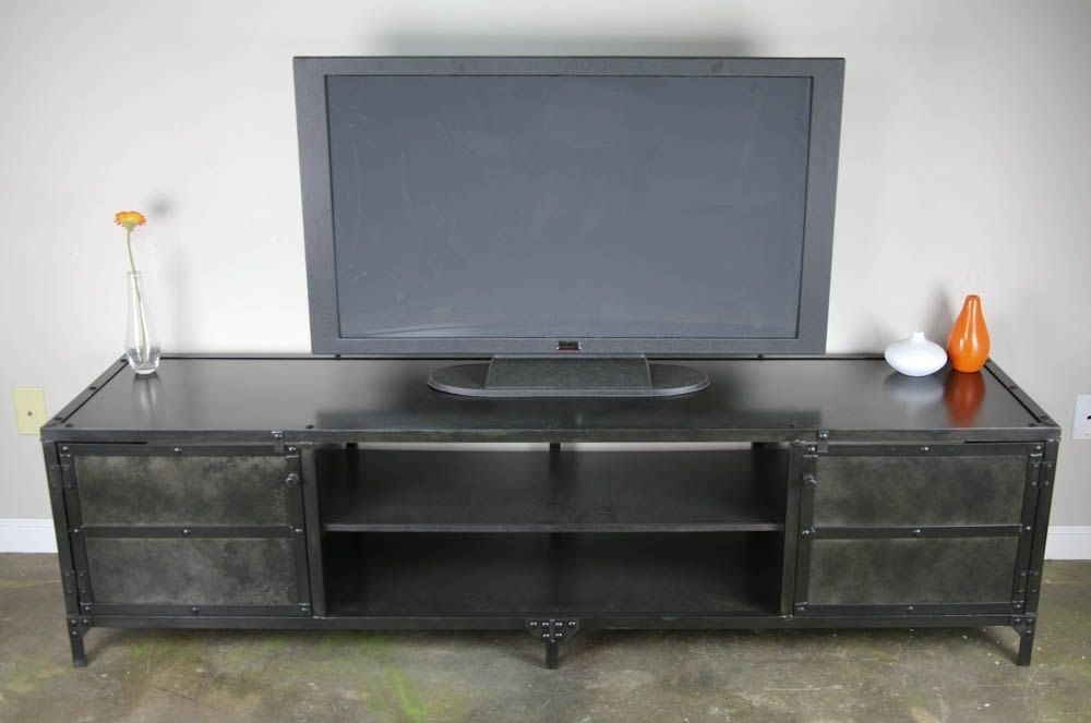 Remarkable Well Known Vintage Industrial TV Stands Intended For Buy A Handmade Vintage Industrial Media Console Tv Stand (Image 43 of 50)